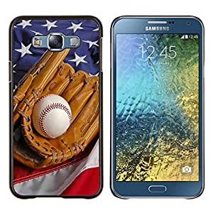 - MLB Baseball Sport USA - - Cubierta del caso de impacto con el patr??n Art Designs FOR Samsung Galaxy E7 E7000 Queen Pattern
