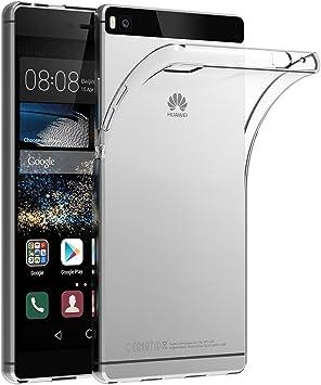 AICEK Coque Huawei P8, Etui Silicone Gel Huawei P8 Housse Antichoc Huawei P8 Transparente Souple Coque de Protection pour Huawei P8(5.2 Pouces)