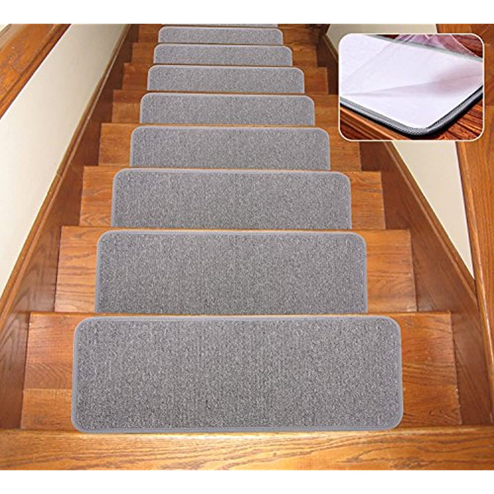 Exceptionnel Details About Carpet Stair Treads Non Slip Indoor Set Of 13 Rugs Covers  Mats, (Grey ,25.5 9.5