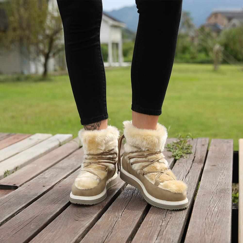 Zapatos Mujer Invierno Botines de Nieve - Botas Felpa Mujer, Zapatos de Cordones para Mujer, Excelente Proteccion contra el Frio, Cuidado Pies: Amazon.es: ...