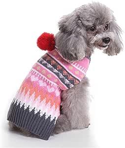 TUOTANG Suéter de Perro Suéter de Navidad para Mascotas Ropa para ...