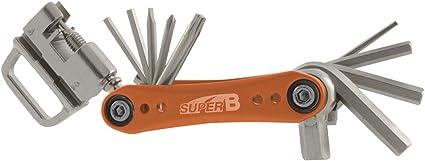 SUPER B - 14382 : Herramienta llave multifuncion plegable 17 con ...