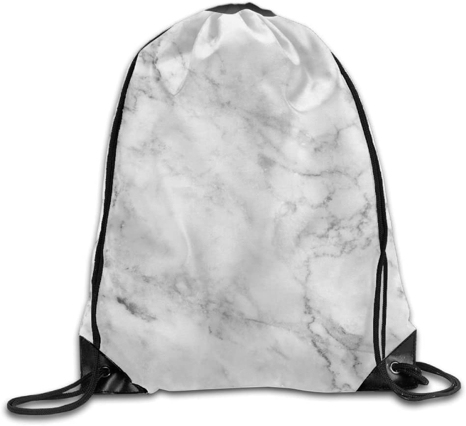 VIMUCIS White Marbling Drawstring Backpack Rucksack Shoulder Bags Training Gym Sack For Man And Women