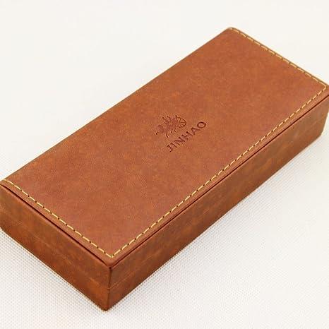 bonita caja marrš®n Jinhao caja regalo original: Amazon.es: Oficina y papelería