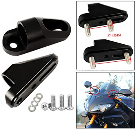 Amazon.com: Motorcycle Mirror Riser Extenders Spacers ...