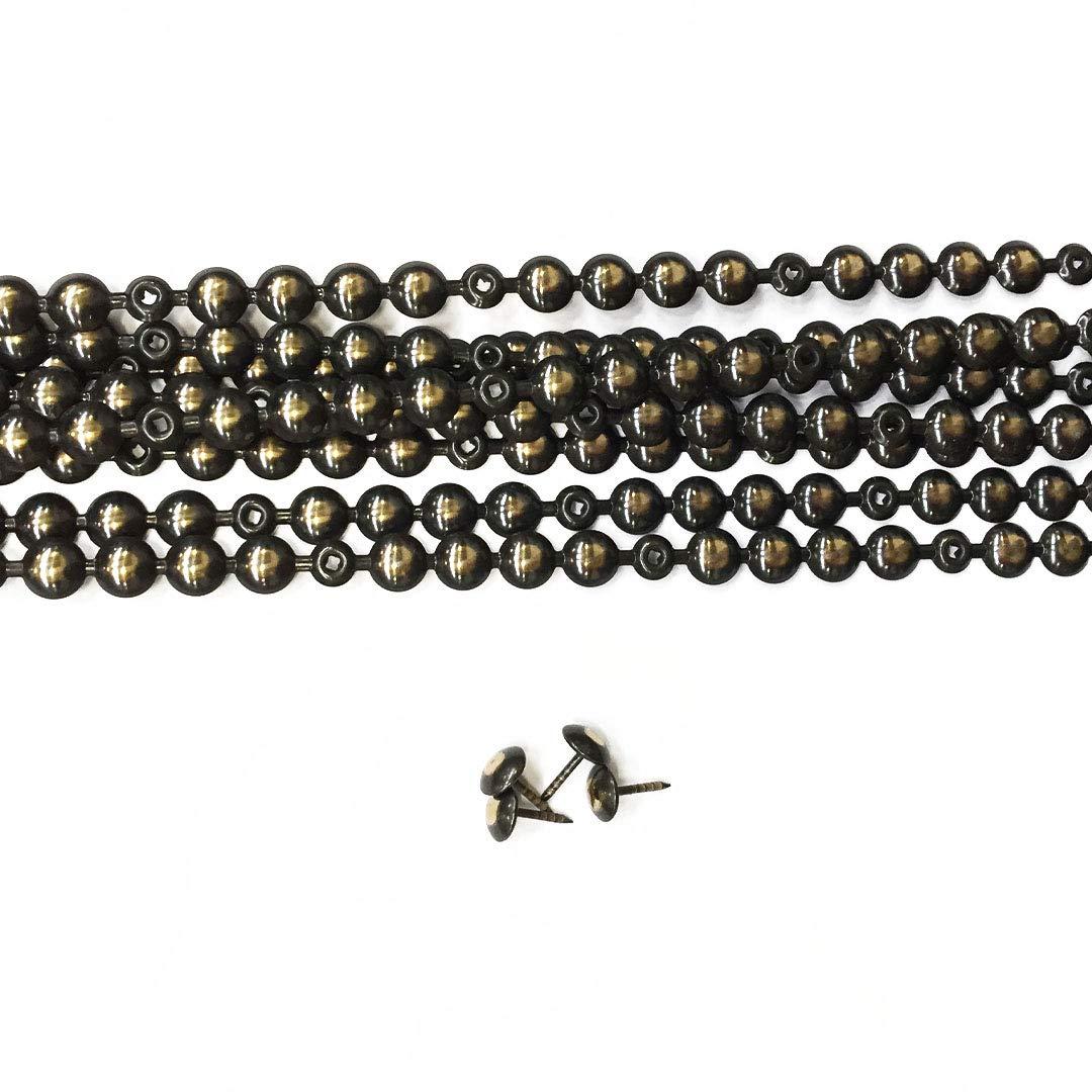 10 Tiras de Clavos color bronce renacimiento 9,5mm con 20 Clavos Combinados, para Tapiceria y reparacion de silla