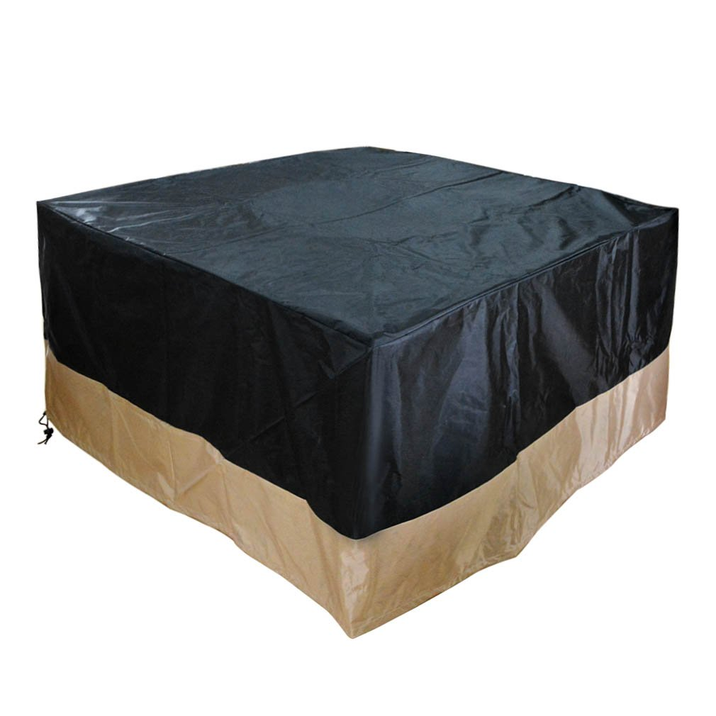 Stanbroil Square Fire Pit/Table Cover, Black, 40 L x 40 W x 28 H