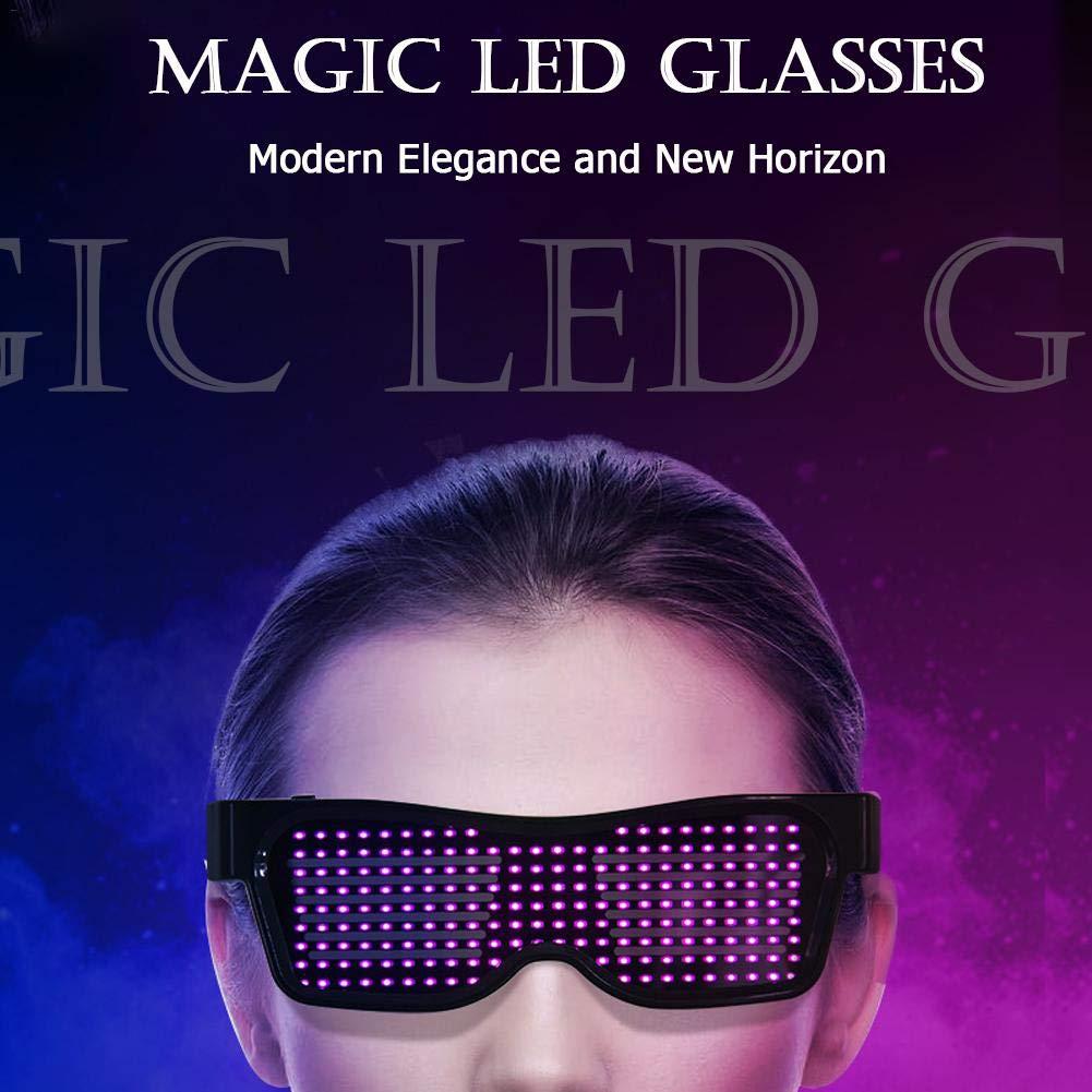 Gafas Luminosas Festival Gafas Luminosas Brillantes para Navidad Rave Gafas Luminosas LED Barras yummyfood Gafas con Luz LED Fiesta