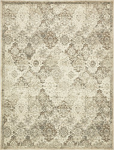 Vintage Traditional Overdyed Beige 9' x 12'-Feet St. Johns Collection Area rug - Living Dinning Room Bedroom Rugs and Carpets