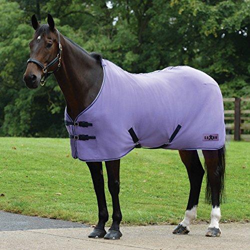 Saxon Horse Blankets - Saxon Element Polar Fleece Standard Neck Purple/Navy 75