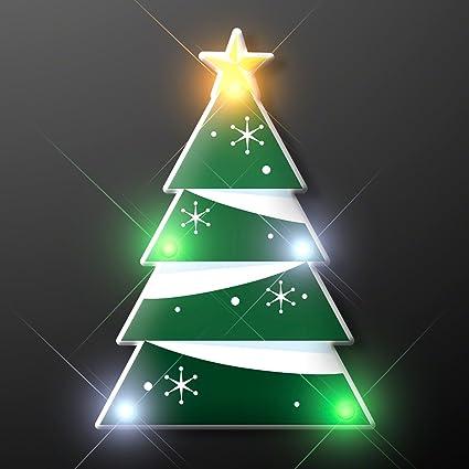 blinky led christmas tree flashing led light up body light pins set of 5