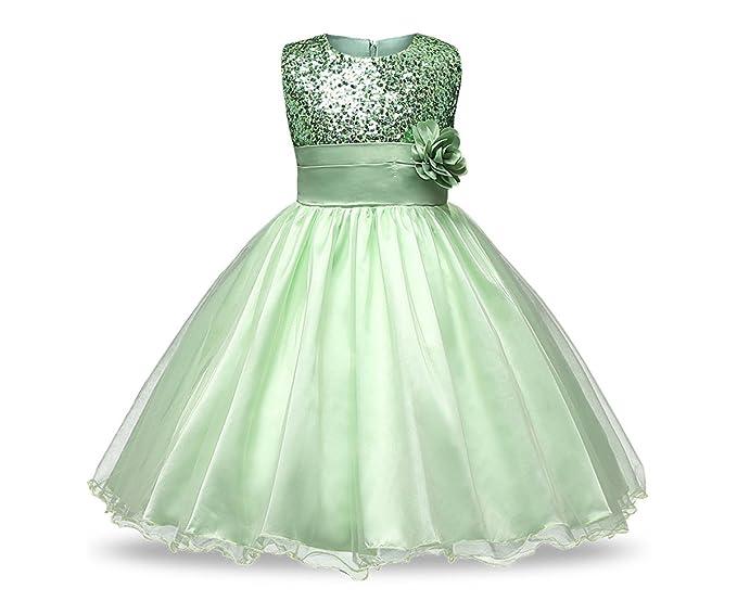 Amazon Com Xiyan Kids Sparkly Sequin Flower Dresses Wedding Gowns