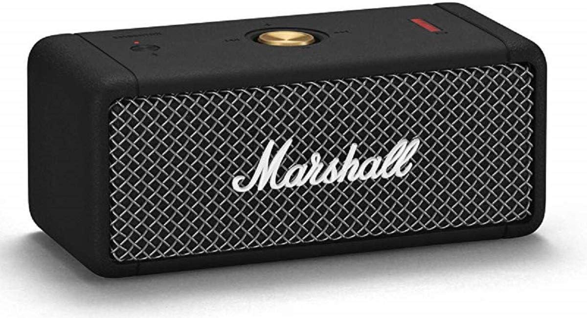 Marshall Emberton Portable Bluetooth Speaker, Black