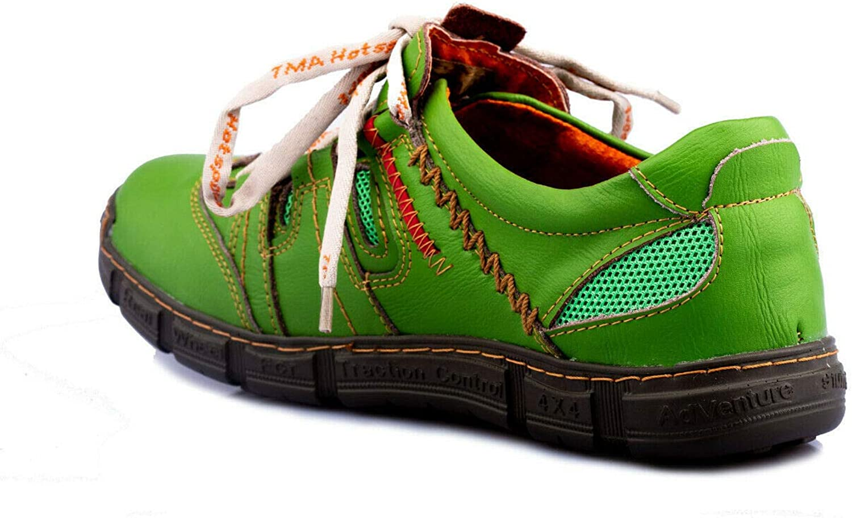 TMA 9957 Slipper Comfort Chaussures Basses en Cuir v/éritable pour Homme Vert Taille 41-46 Vert 44 EU Vert