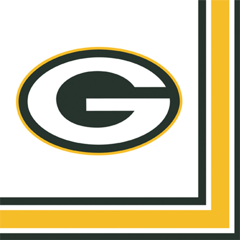 NFLグリーンBay Packers Lunch Napkins B00EYJIKPK