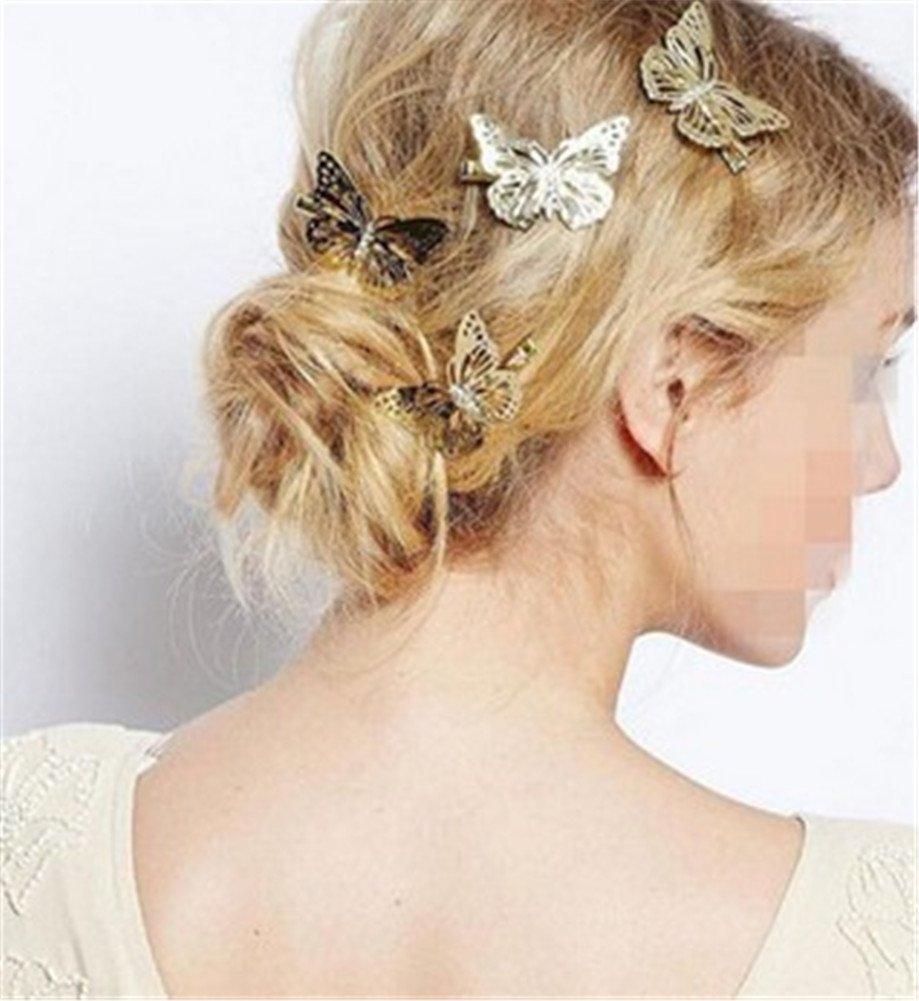 Interesting 1 par Ahueca hacia Fuera Las Mariposas Femeninas Elegantes de la Mariposa Headwear