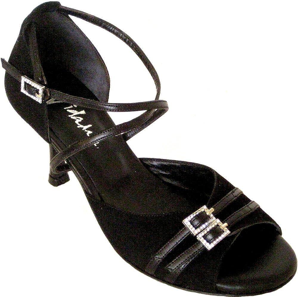 [Vida Mia] Women 's調節可能なダンス靴Isabella (アルゼンチンタンゴ、サルサ、ラテン) B01EB36JRE ブラック 10 USA