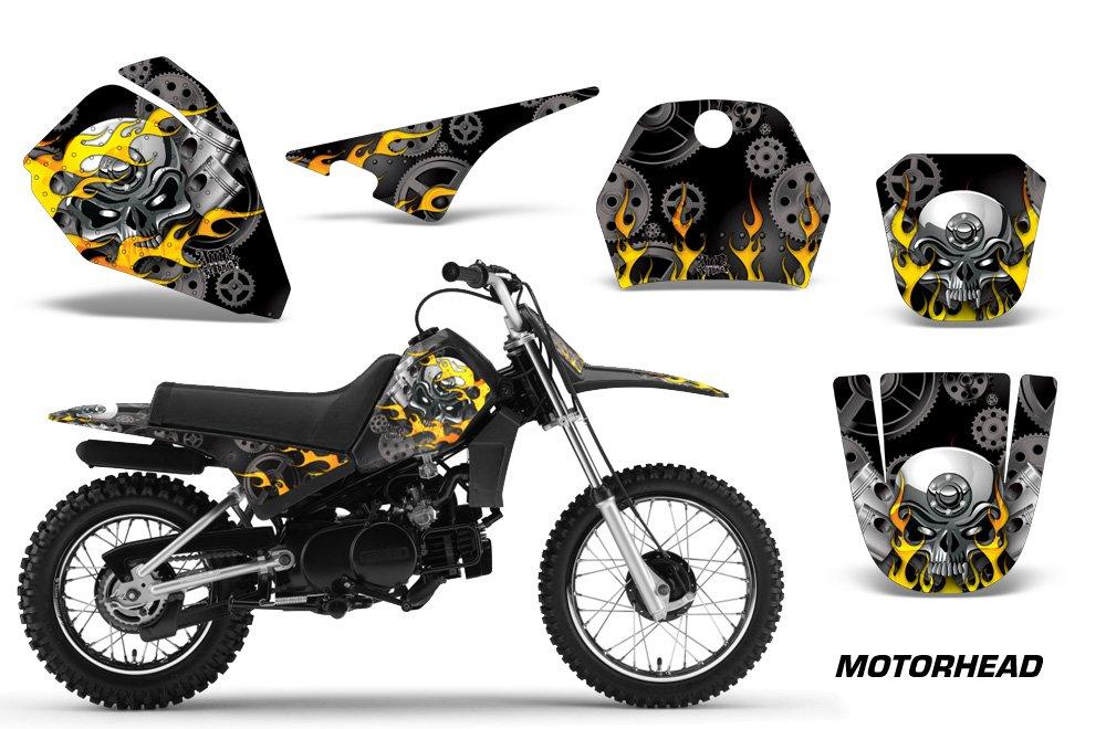 Yamaha PW80 1996-2006 MX Dirt Bike Graphic Kit Sticker Decals PW 80 MOTORHEAD BLACK