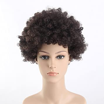 Stfantasy Wigs for Black Women Cosplay Costume Pixie Afro Curly Synthetic Disco Hippie 60s 70s Peluca