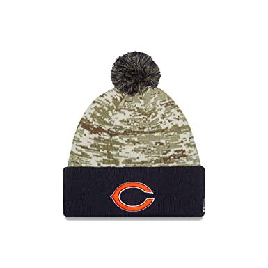 new style 65569 9e27a New Era Men s NFL 2015 Chicago Bears Salute to Service Knit Hat Digi Camo  Size One Size at Amazon Men s Clothing store
