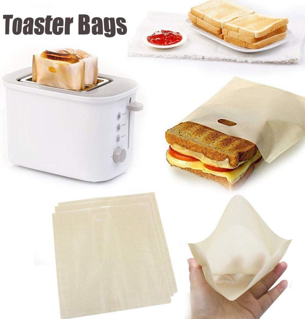 A 10PC Gaddrt 16/×16.5cm Toasterbeutel wiederverwendbar f/ür gegrilltes K/äse-Sandwich Antihaft-Hitzebest/ändig Toaster-Lagerung Leicht zu reinigen