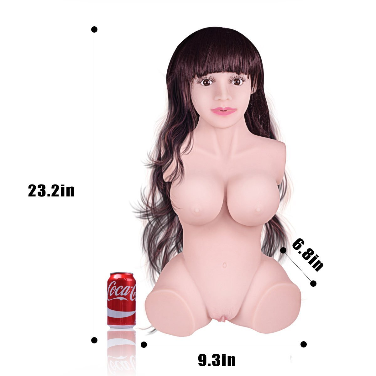 Full Size Women Trunk love doles with 3 Openings Lifelike Realistic Love Doles for Men Male 3D Adult Toys TPE Dolls with Metal Skeleton & Wig Lifesize Ultra Soft Men's Toys Best Gift for Boyfriend Hus by FlyDoll (Image #8)