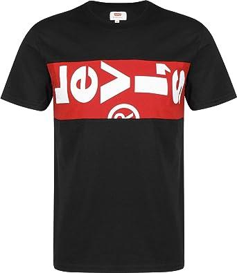 4cedd0b7742 Levi's Men's Tab Panel T-Shirt, Black, S   Amazon.com