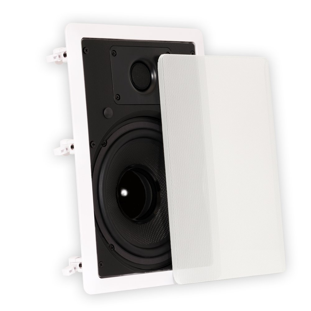 """Theater Solutions TS80W In Wall 8"""" Speakers Surround Sound"""