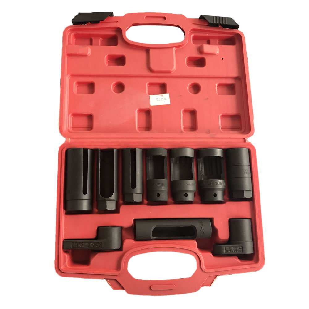 MILLION PARTS 10PC Auto O2 Oxygen Wrench Sensor Socket Set & Oil Pressure Sending Unit Master Socket & Pressure Vacuum Switch Socket Kit Remover Installer Tool