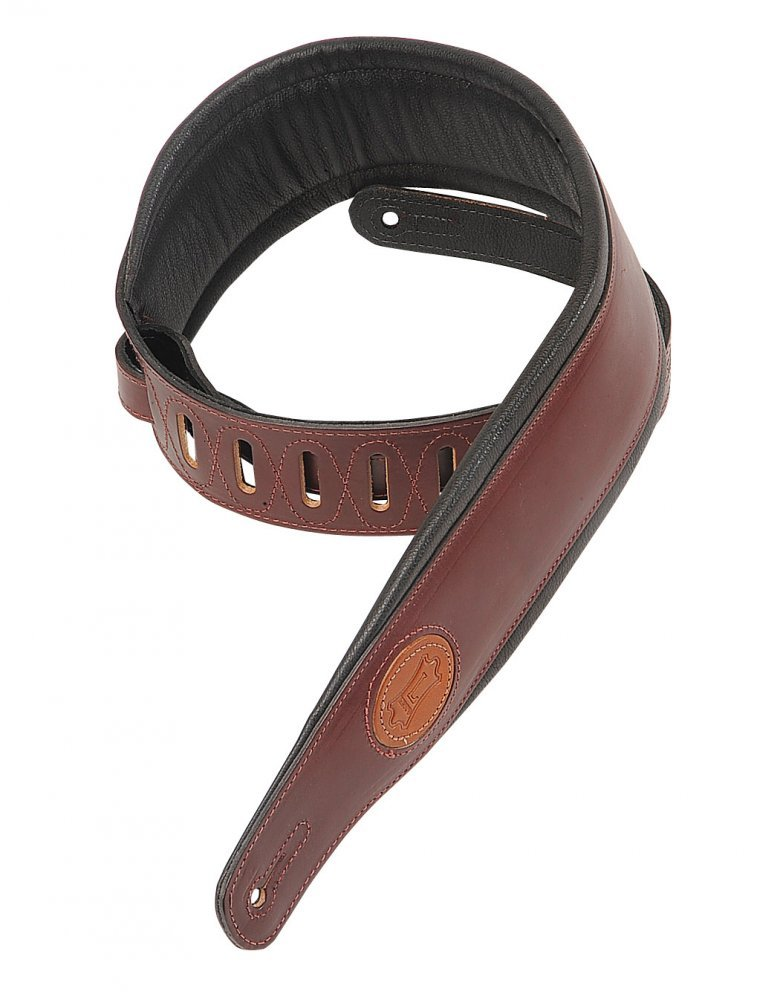 Levy's Leathers MSS1-BRG Veg Tan Leather Guitar Strap,Burgundy