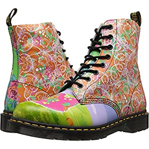 Dr. Martens Women's Pascal Daze in Backhand Leather Fashion Boot, Multi Daze, 7 Medium UK (9 US)