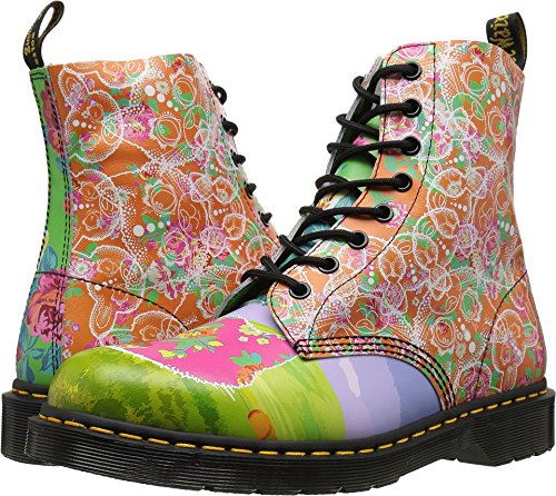 (Dr. Martens Women's Pascal Daze in Backhand Leather Fashion Boot Multi, 4 Medium UK (6 US))