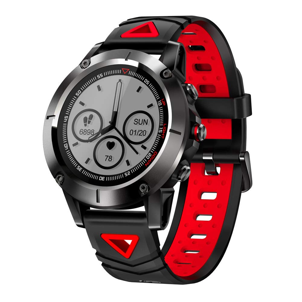 Lovewe G01 Smart Watch,Fitness Tracker/GPS/ Pedometer Analysis/Heart Rate Monitor Tracker/Blood Pressure Monitoring for Android and IOS Smartphones Long Standby (Red)