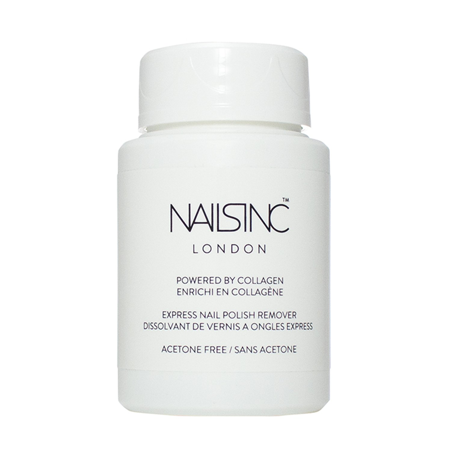 Nails Inc Powered By Collagen Express Nail Polish Remover Pot 8522