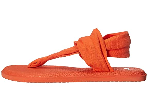 Sanuk Womens Yoga Sling 2 Flip Flop (9 B(M) US, Nasturtium ...