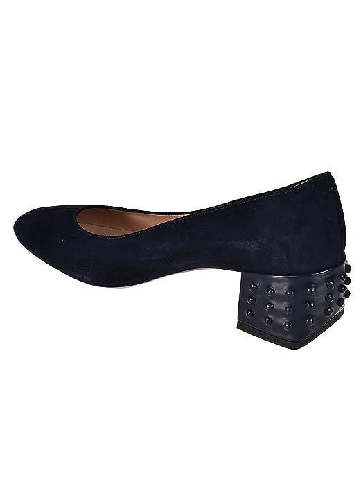 8b0107324b4 Tod's Structured Heel Blue Suede Pumps Blu Donna: Amazon.co.uk ...