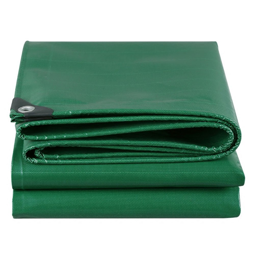 CHAOXIANG オーニング 厚い 折りたたみ可能 防水 日焼け止め 耐寒性 高温耐性 耐食性 耐摩耗性 防風 PVC 緑、 500g/m 2、 厚さ 0.45mm、 17サイズ (色 : 緑, サイズ さいず : 4×7m) B07DBPKX6B 4×7m|緑 緑 4×7m