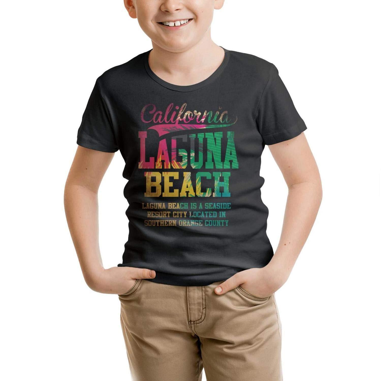 California sunshine stickers Unisex Child black tshirt Cotton short sleeve lovely tshirts