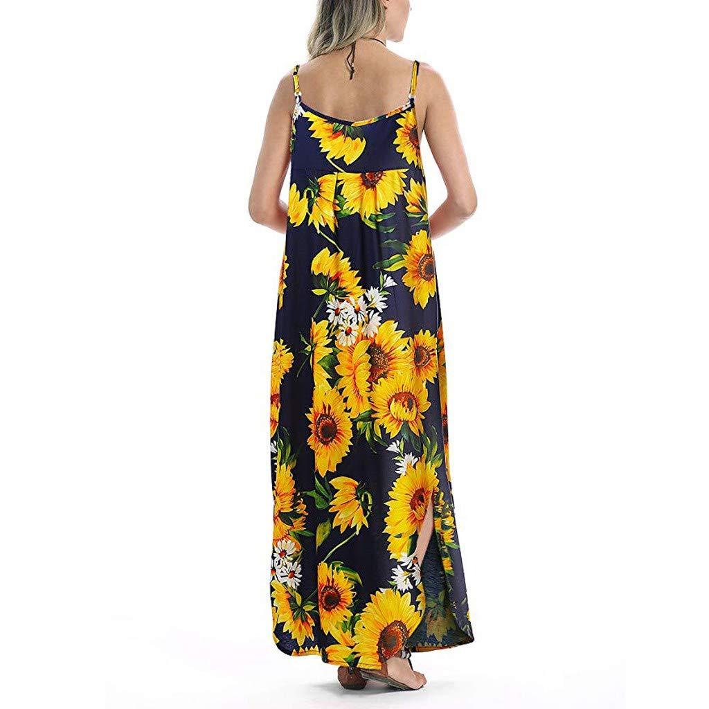 Las Rebajas, Vestido Boho Mujer, Vestido Verano de Flores sin ...