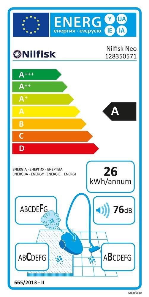 Nilfisk Aspiradora en seco BL10P05A 750W 2100l/min 185mbar 2 ...