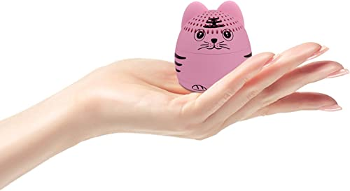 momoho Mini Bluetooth Speaker – Small Size but Great Sound Quality,Photo Selfie Button Answer Phone Calls,BTS0011A Pink Tiger