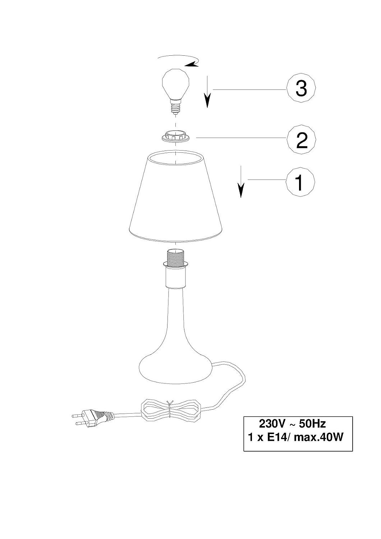 trio leuchten 5960011 01 tischleuchte touch me 1xe14 max 40w stoffschirm d 15 cm fuss chrom. Black Bedroom Furniture Sets. Home Design Ideas
