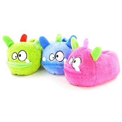 5d061bfdc34 Hengst Kids Childrens Monster Animal Novelty Neon Slippers - Kid-Hen-mon   Amazon.co.uk  Shoes   Bags