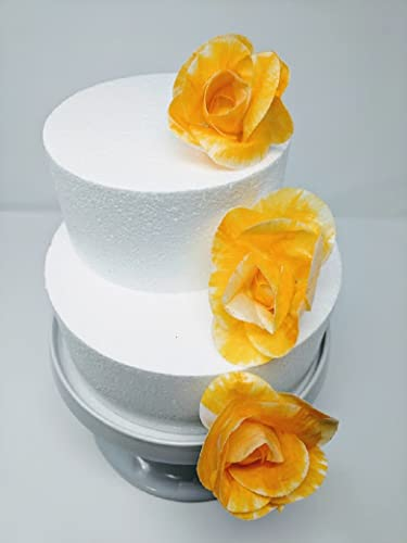 Amazon Com 3d Edible Rice Paper Yellow Rose Flowers For Cake