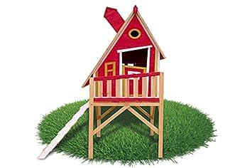 Casita Infantil de Madera Outdoor Toys Gulliver (Rojo): Amazon.es: Juguetes y juegos
