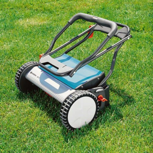Lawn Mower Handle : Gardena inch silent push reel lawn mower with