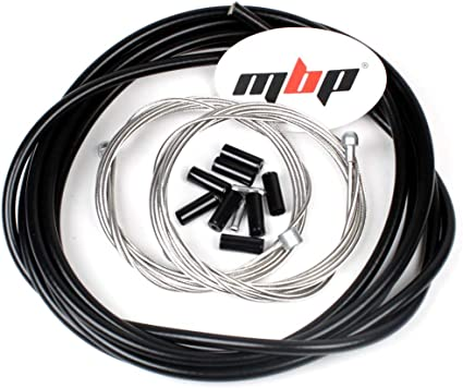 ORIGIN8 Slick Compressionless Road Brake Cable//Housing Kit Front and Rear Black