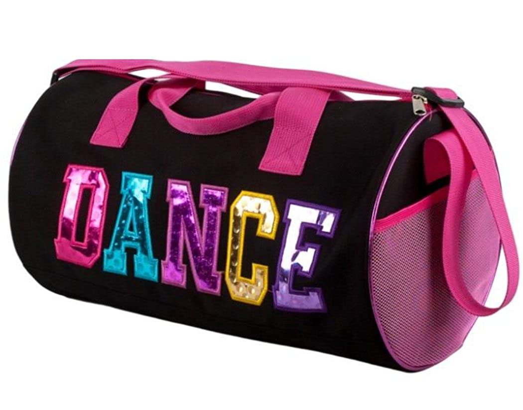 Dance Duffel Bag with Multicolored Dance Print