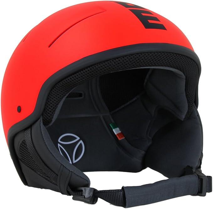 58 cm Adulto M Rosso Fluo Casco Sci Unisex MOMO Design Force18