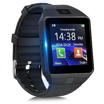 XTHAILIANG Smartwatch con Podómetro, Reloj Inteligente Android con Cámara TF/Ranura de Tarjeta SIM Notificación de Mensaje, Reloj de Fitness con ...